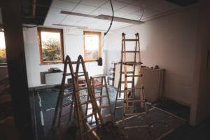 Bauarbeiten an Studio für die Landesbibliothek Südtirol
