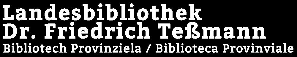Logo Landesbibliothek Tessmann Bozen